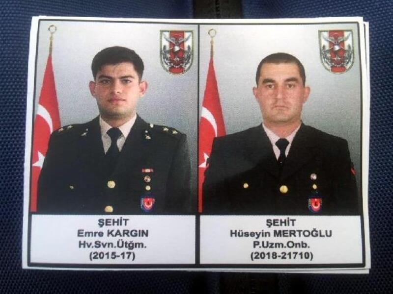 Avaşin'de şehit olan askerler memleketlerine uğurlandı