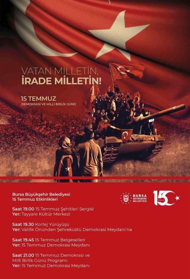15 Temmuz Şehitlerine Bursa'da anma töreni yapılacak