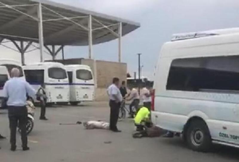 Otogarda yolcu minibüsünün çarptığı yaşlı kadın öldü