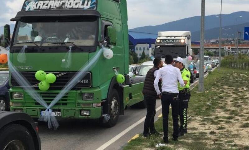 TIR'lı sünnet konvoyuna ceza