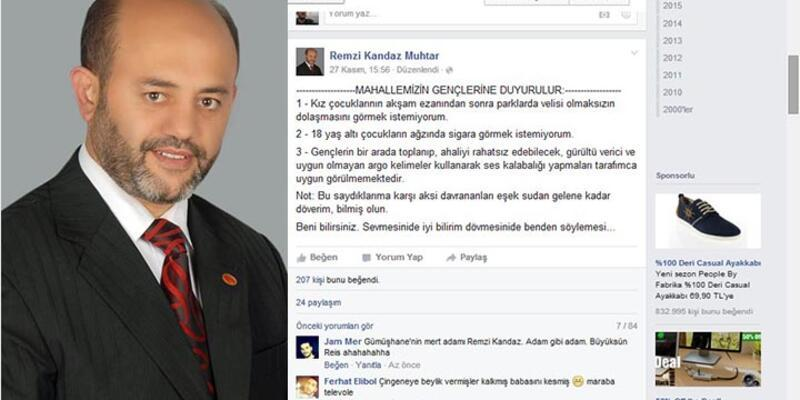 """Gebze'de Facebook'tan """"döverim"""" bildirisi yayınlayan muhtardan açıklama"""