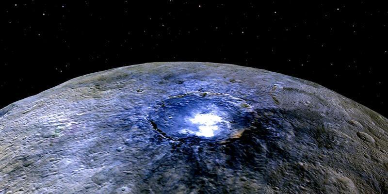 Ceres'in güneş almayan bölgelerinde buzul tespit edildi
