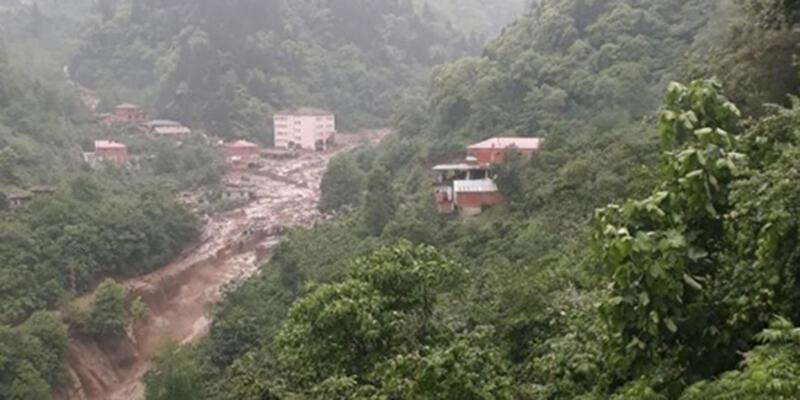 Trabzon'daki sağanaktan acı haber