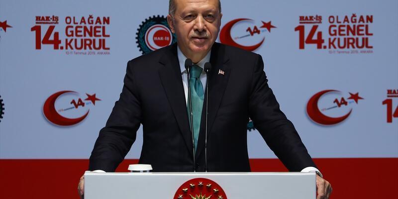 Cumhurbaşkanı Erdoğan'dan HAK-İŞ Genel Kurulu'nda önemli açıklamalar