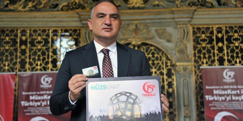 Bakan Ersoy, 15 Temmuz temalı Müzekart'ın tanıtımını yaptı