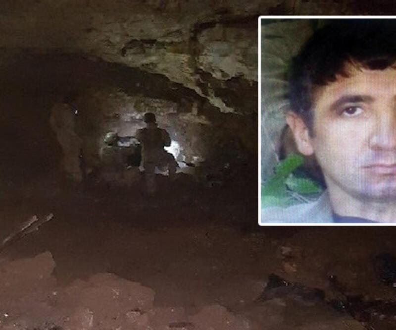 Mağarada ölü olarak bulunan teröristin kimliği belirlendi