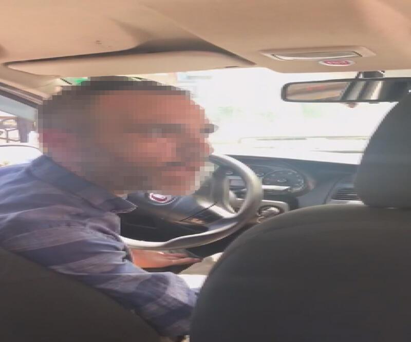 Kısa mesafeyi duyunca kadın yolcuyu araçtan indirmek istedi