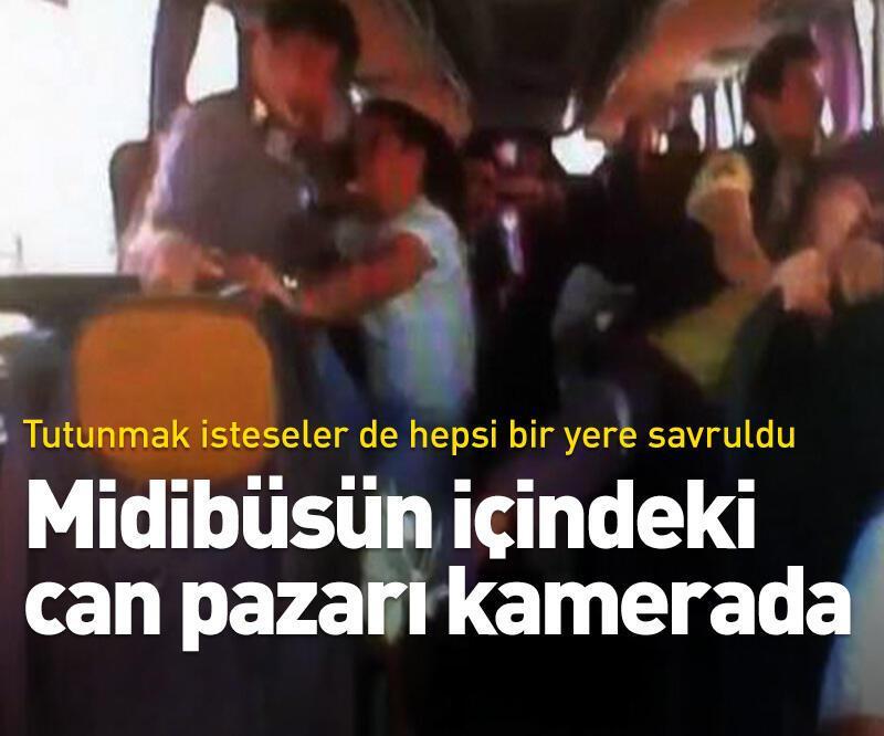 Son dakika: 34 kişinin yaralandığı midibüs kazası kamerada