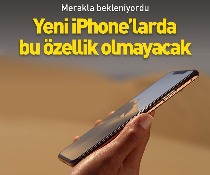 Son dakika: Yeni iPhone'larda bu özellik olmayacak