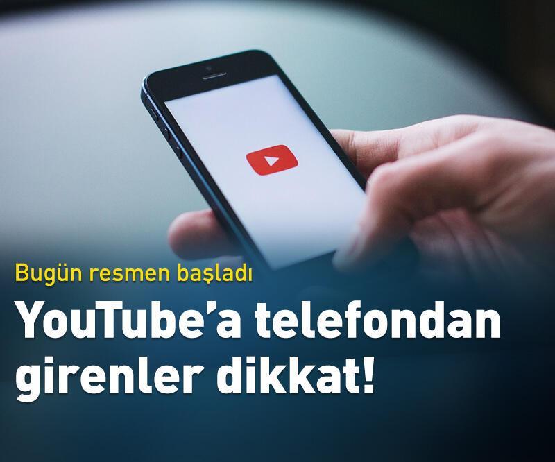Son dakika: YouTube'a telefondan girenler dikkat!