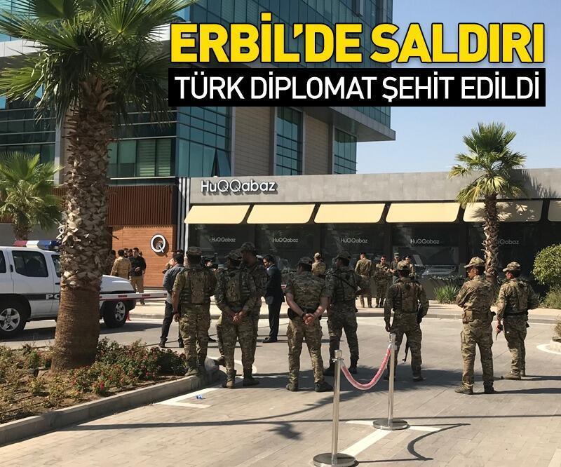 Son dakika: Son dakika: Erbil'de silahlı saldırı! Bir Türk diplomat şehit edildi