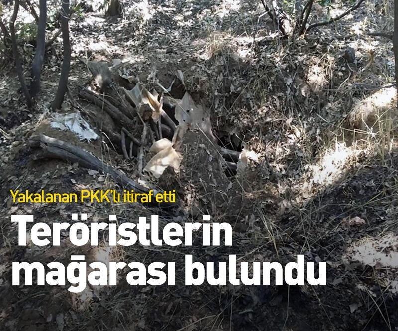 Son dakika: Teröristlerin mağarası bulundu