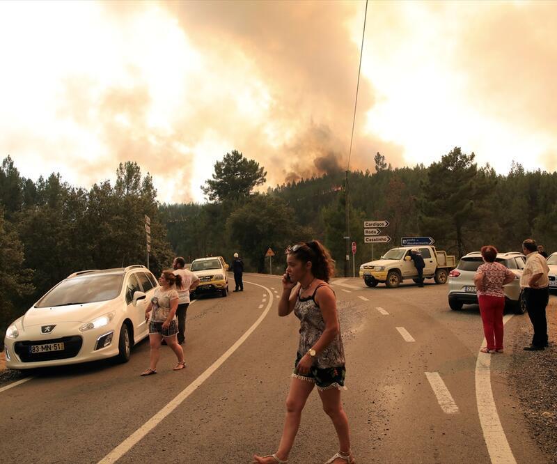 Portekiz'deki orman yangınında yaralı sayısı 31'e çıktı