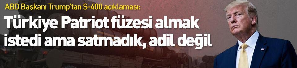 Türkiye Patriot füzesi almak istedi ama satmadık, adil değil