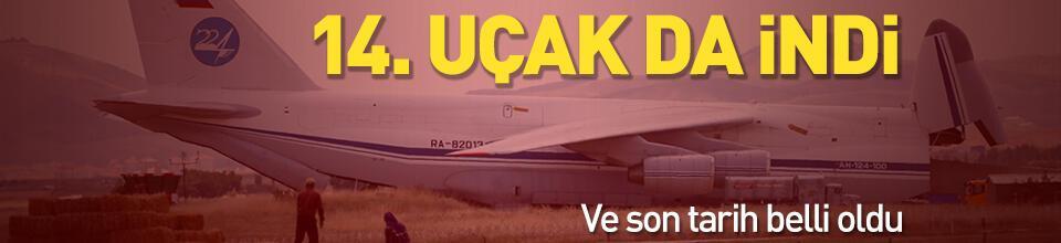 S-400 sevkiyatı devam ediyor... 14'üncü uçak Mürted'e indi